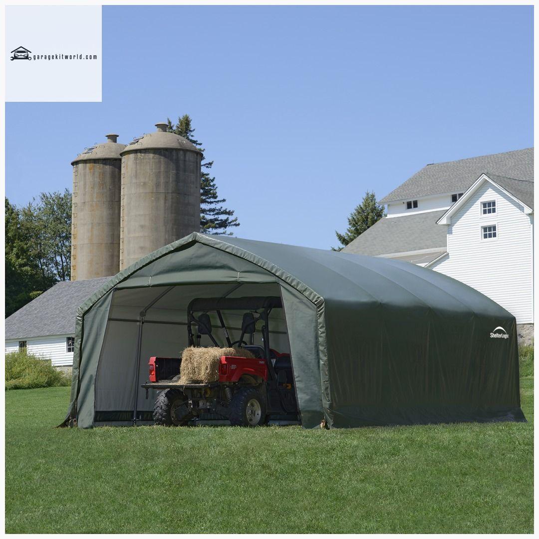 AccelaFrame HD Green 12 x 20 ft. Garage Kit garage