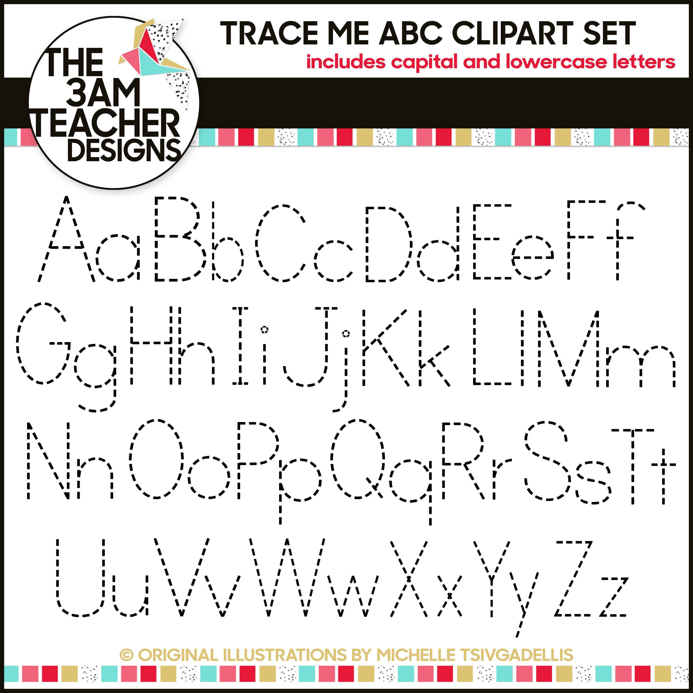 Trace Me Alphabet Letters A Z