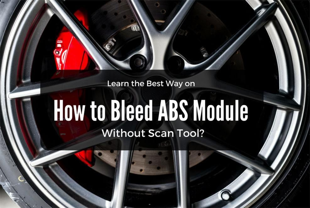 How to Bleed ABS Module Without Scan Tool? | auto | Abs