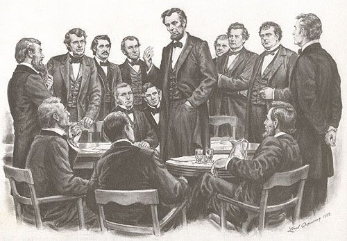 Lincoln meets at white house with Loyal War Governors