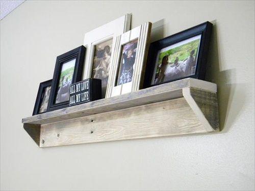 Hanging Shelves diy pallet picture hanging shelves | scaffali, appendere mensole e