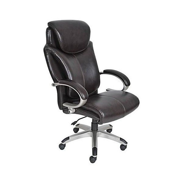 Serta AIR Chestnut Big And Tall Executive Office Chair ($490) ❤ Liked On  Polyvore