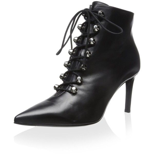 0011b6db876c Balenciaga Women s Ankle Bootie with Silver Stud (13 790 UAH) ❤ liked on  Polyvore featuring shoes