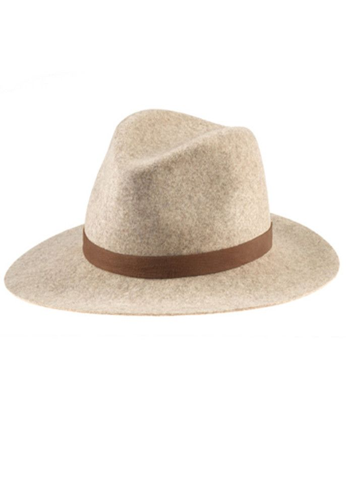 f16e281e96708 Janessa Leone Julia Wool Felt Fedora Hat Navy Hats