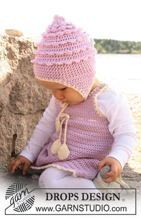 Baby Dress And Hat By DROPS Design - Free Crochet Pattern ...