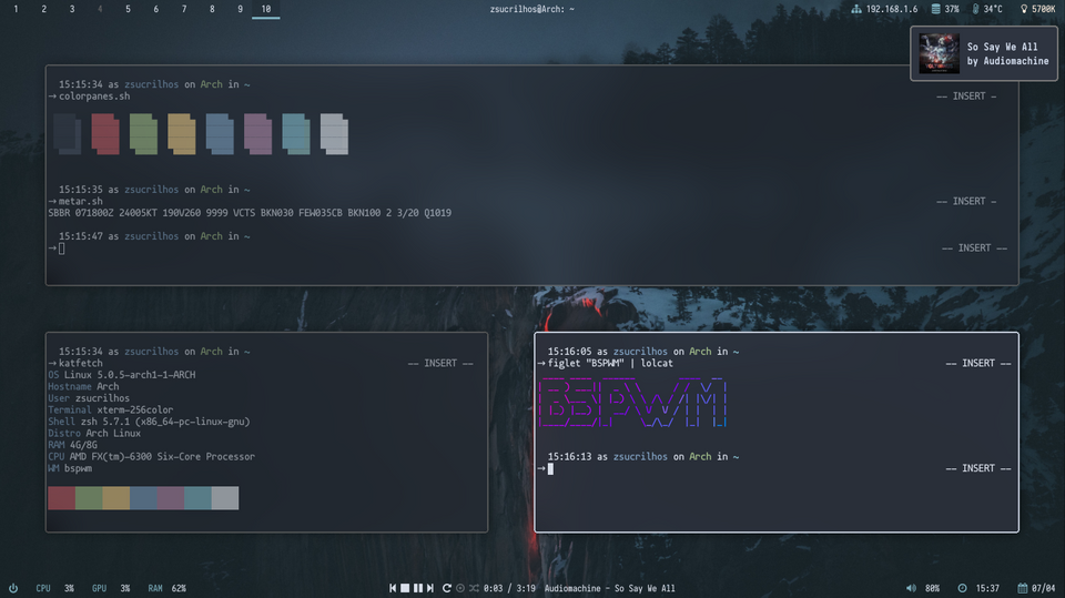 bspwm] Made some changes : unixporn | Desktop Customization in 2019