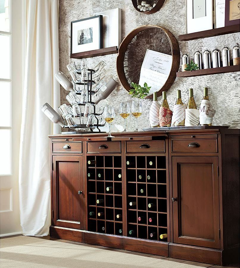 Pottery Barn On Twitter Dining Room Buffet Dining Room Decor Wine Buffet