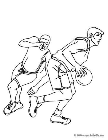 Beautiful Basketball players running coloring page. More sports ...