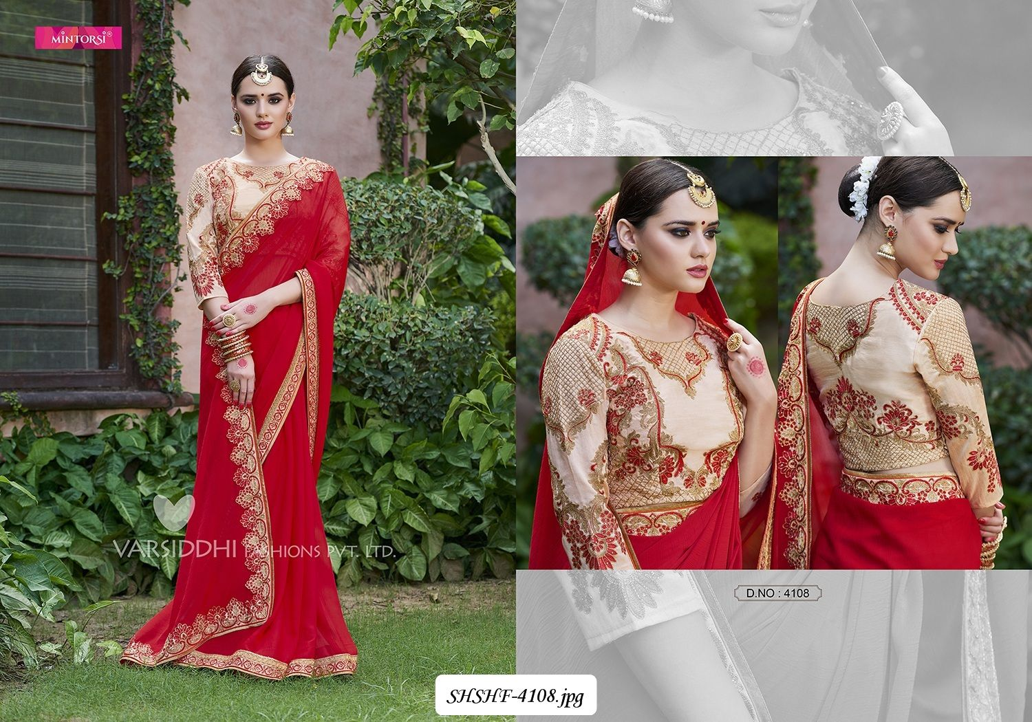 274b3b16eb7749 Work  Heavy Embroidered Work on blouse with beautiful lace border.!! Suit  Color