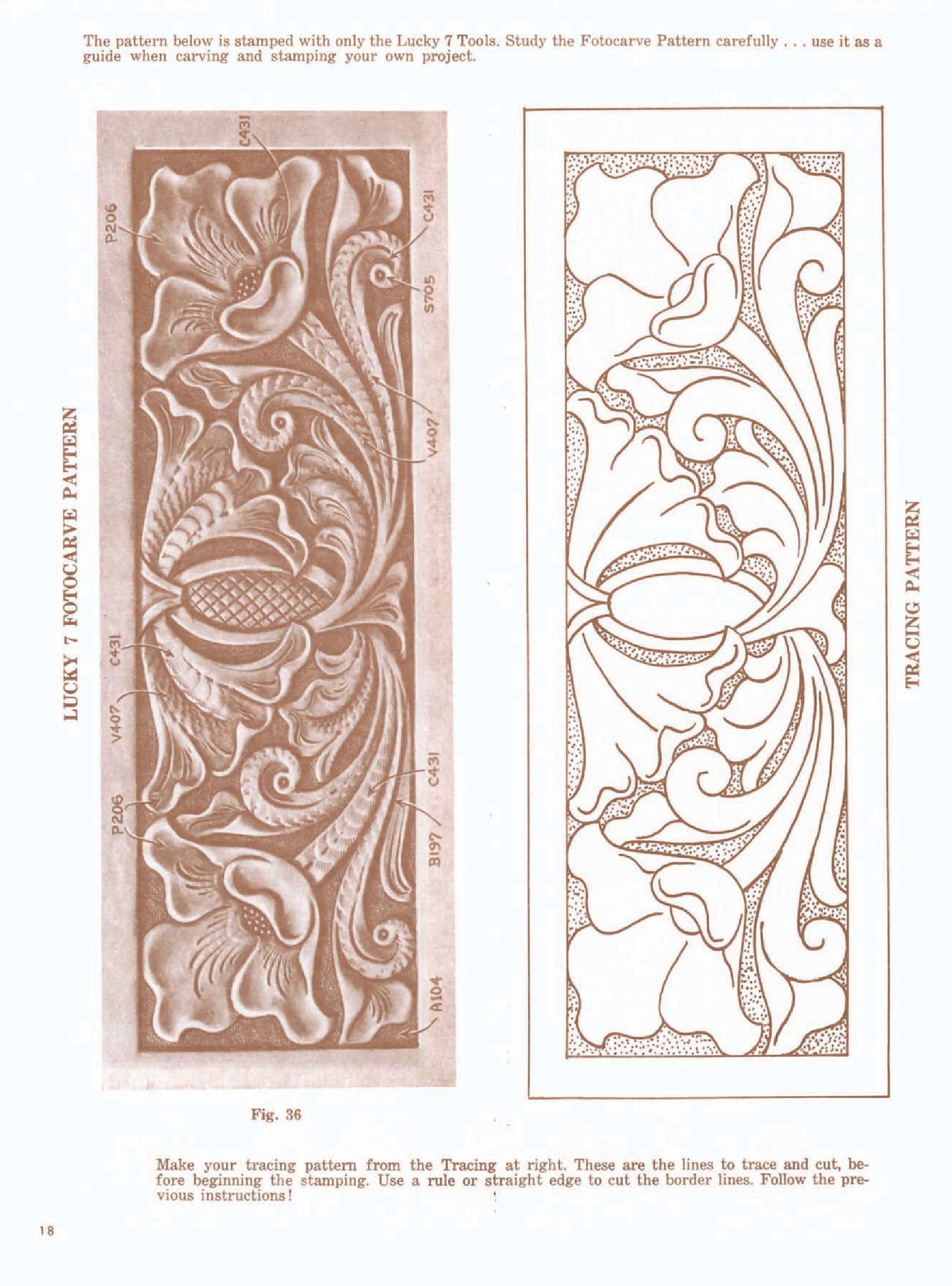 Leather carving pattern stamping pinterest