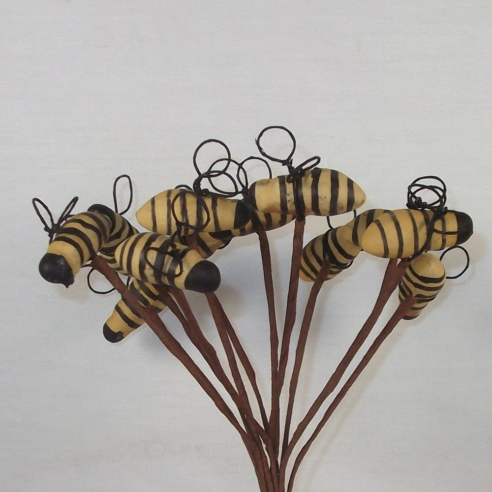 Bumble Bee Spring Floral Stems