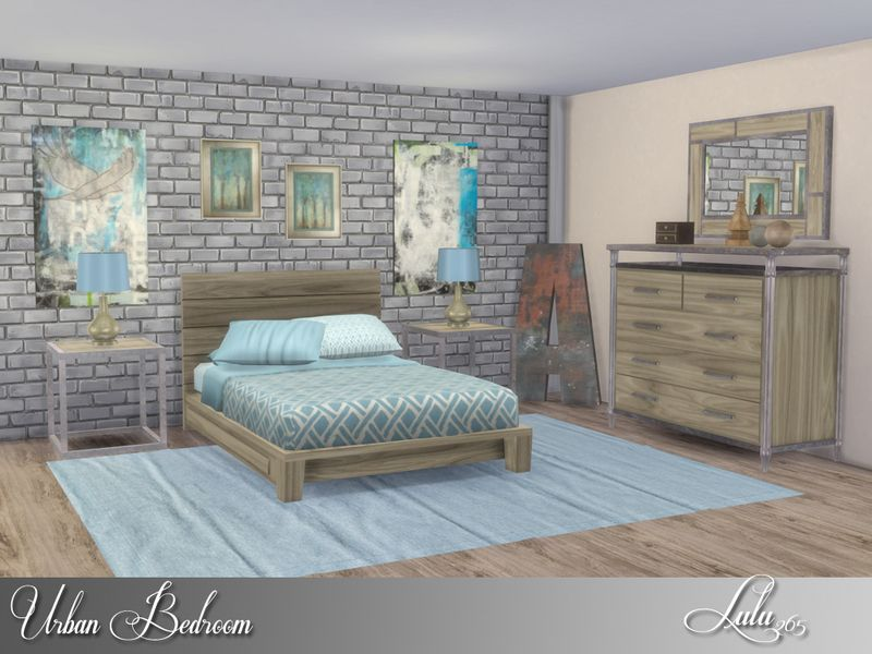 An Urban Loft Style Bedroom, With 3 Variations Included, Distressed Wood  And Rusty Metal