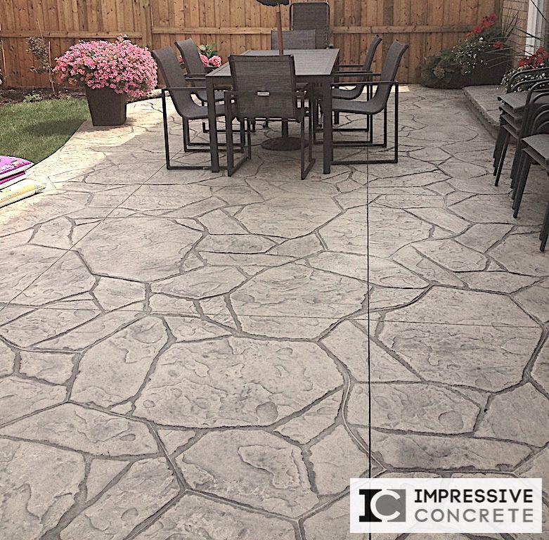 Impressive Concrete   Concrete Patios Portfolio   003   Stamped Concrete  Arizona Flagstone Pattern Patio