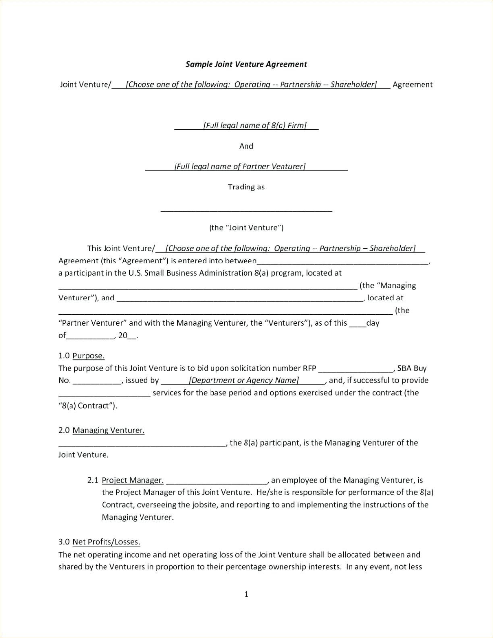 Joint Venture Agreement Checklist India Contractual