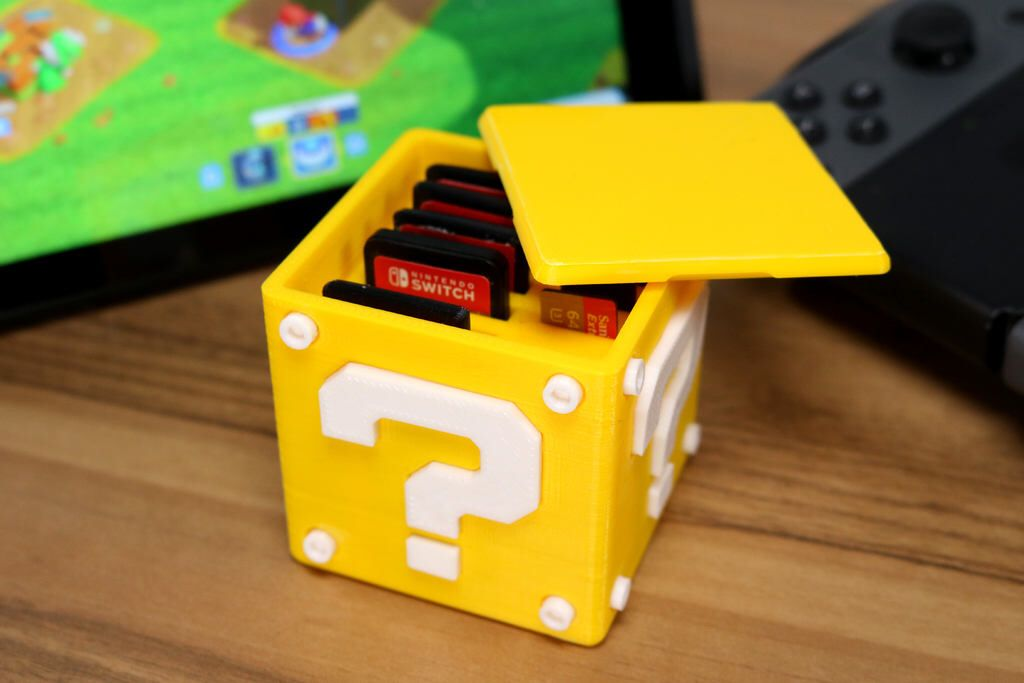 Question block game card case holder for Nintendo Switch