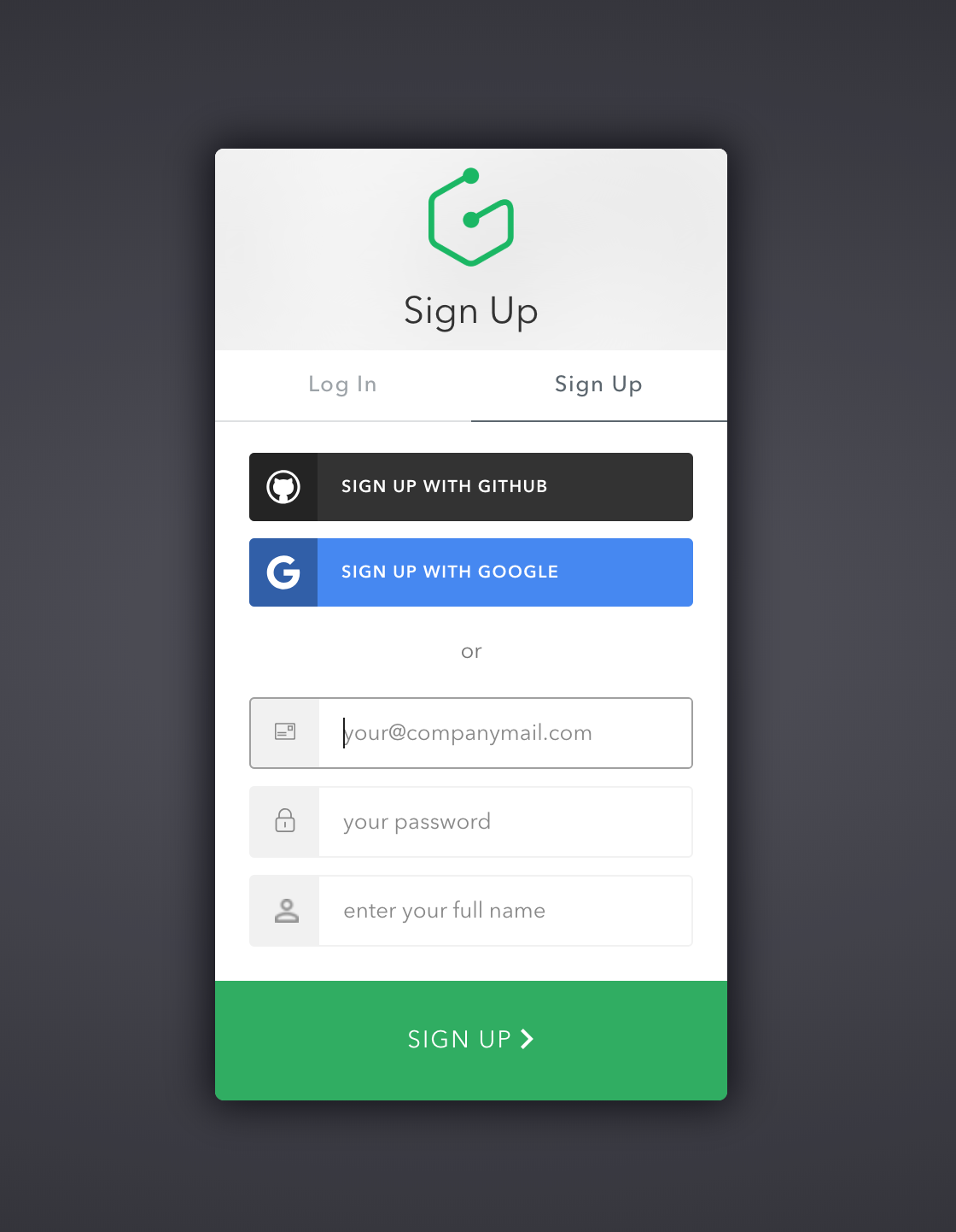 Graphcool Login, powered by Auth0 Name signs, Signup