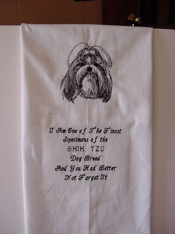 Dog Breed Towels With Sayings On Pinterest Flour Sack