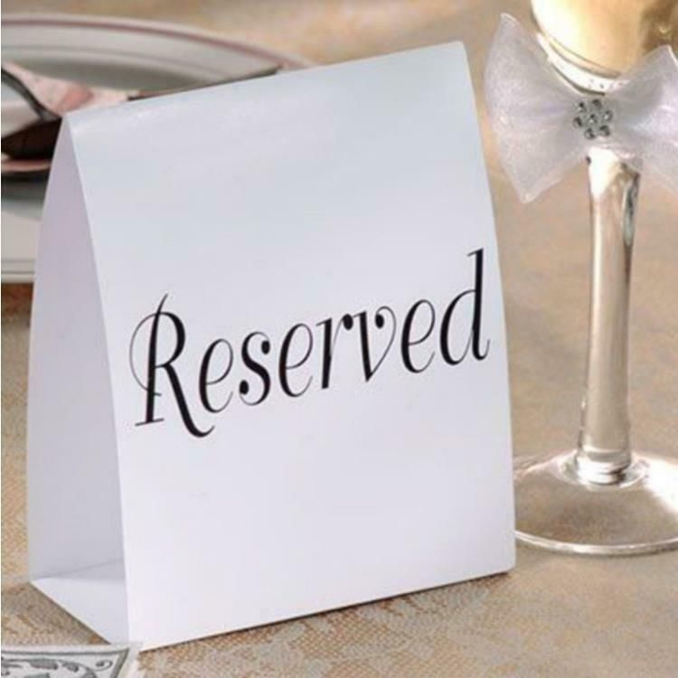 Amscan Reserved Tent Cards 12 Ct Amscan Traditional Alloccasions Tent Cards Table Cards Cards