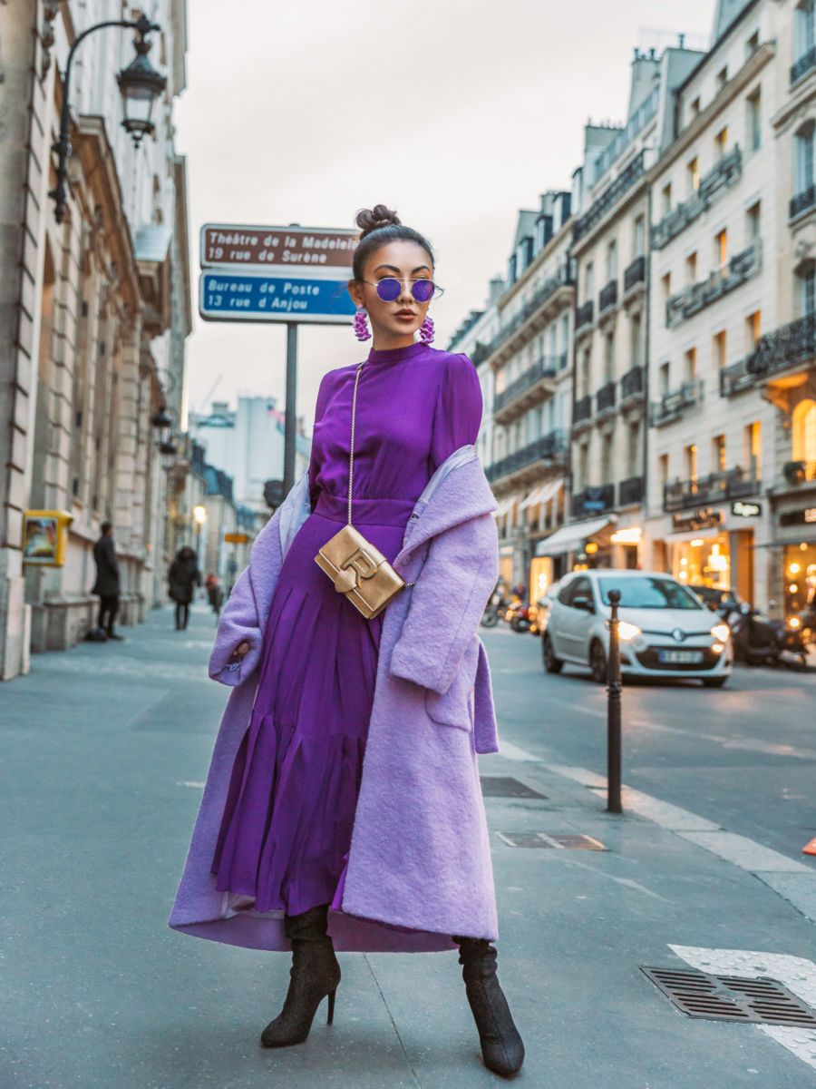 Guide to Wearing Color For Spring - ultra violet outfit, all
