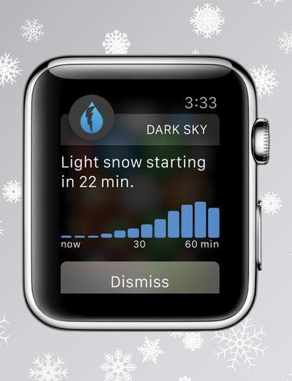 Dark Sky's Apple Watch app will 'tap' your wrist before it