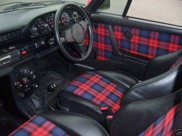 Tartan interior.  LOVE this so much!