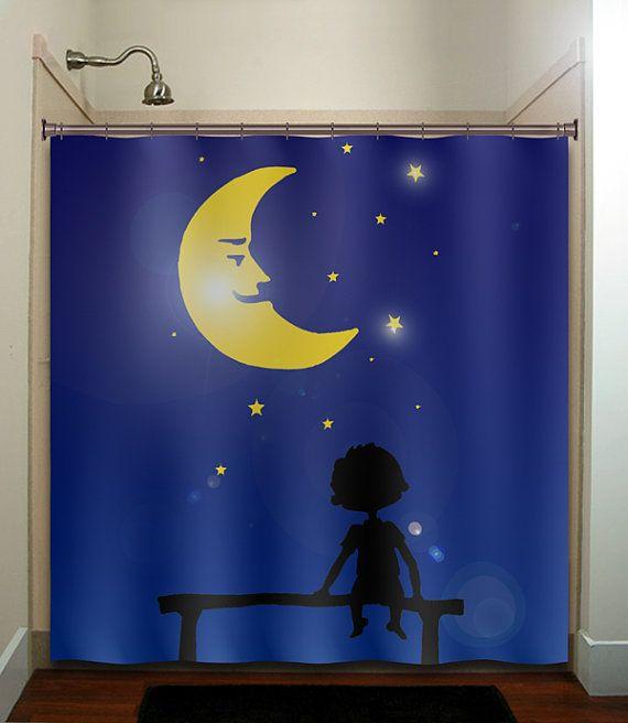 Starry Night Star Moon Boy Children Shower By Tablishedworks 65 00