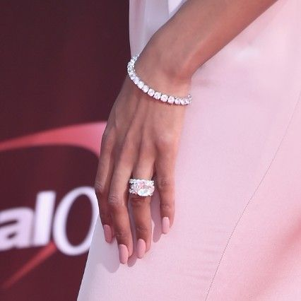 Ciara Shows Off Huge Wedding Bling From Russell Wilson At Espy Awards Celebrity Engagement Rings Heart Wedding Rings Wedding Rings For Women