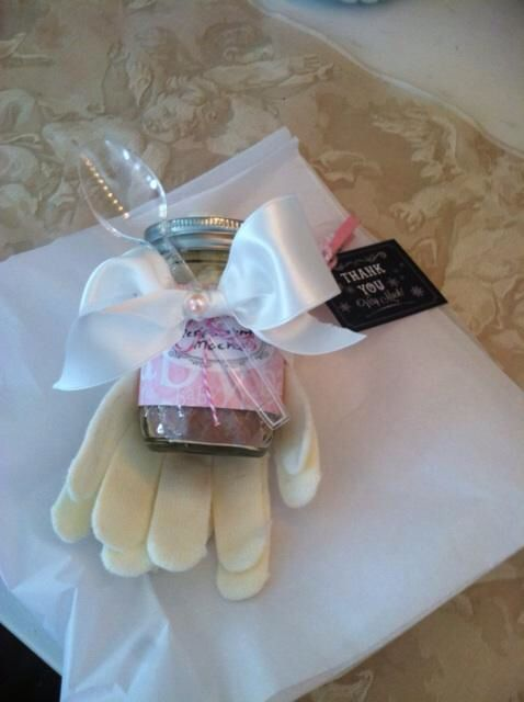 Baby Shower Favors Hot Chocolate baby shower favor ! homemade hot chocolate and gloves ! | baby