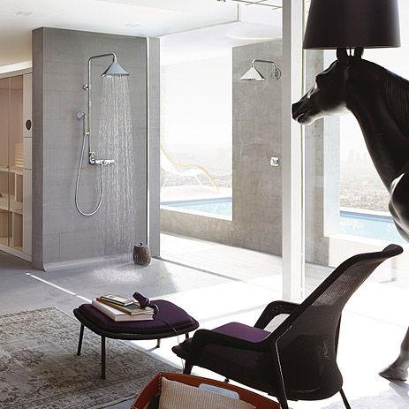 floor-level shower bathroom trend | hansgrohe us