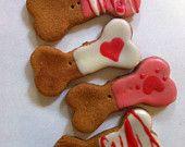 Valentine's Day Gluten Free Peanut Butter Dog Bone Dog Treats