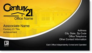 Century Real Estate Business Card Century Business Cards - Century 21 business cards template