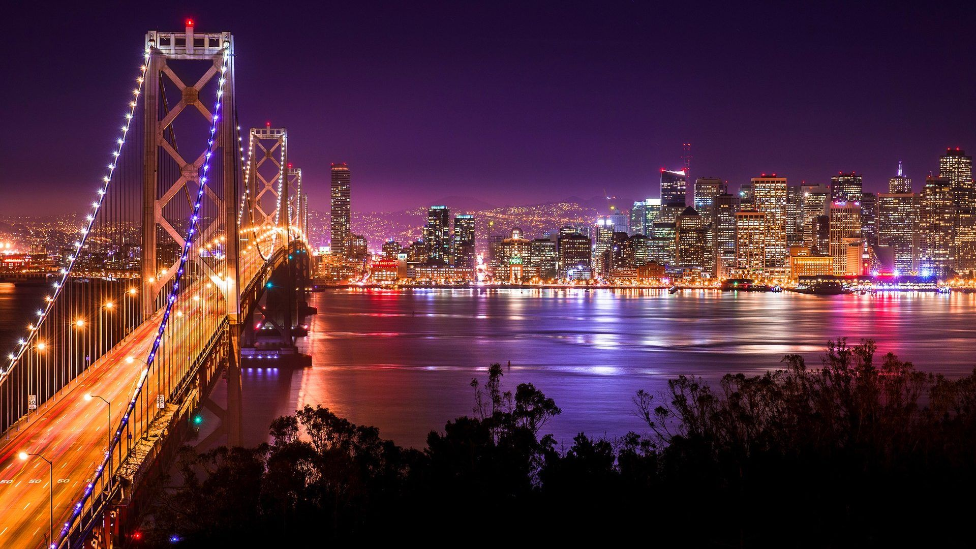 Golden Gate Bridge Night San Francisco Bridges Architecture High Quality Wallpaper Cidades Do Mundo Cidade Mares