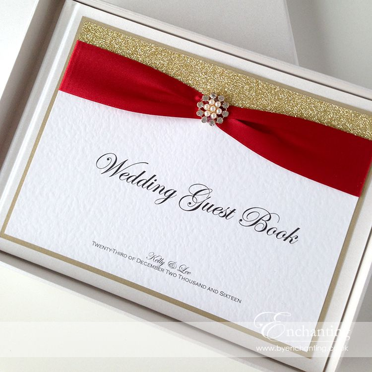 Red and Gold Wedding Stationery | The Cinderella Collection - Guest ...