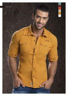 04f5a2ac6b87 camisa manga tres cuartos para hombre - Buscar con Google | vestidos ...