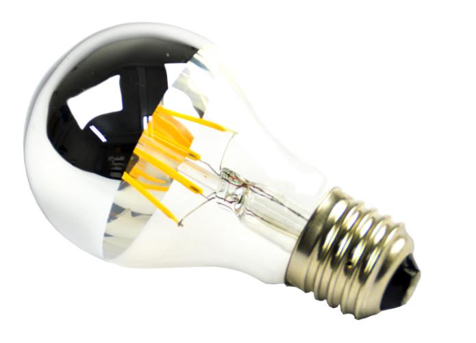wholesale filament led A60 edison lamp e27 led mirror bulb half ...