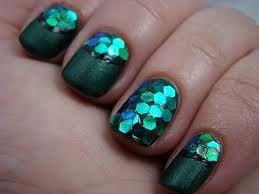 mermaid sequence nails  mermaid nails green nails green
