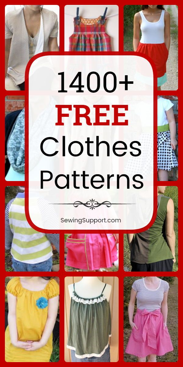 1300+ Free Clothing Patterns -   15 DIY Clothes Dress beginners sewing ideas
