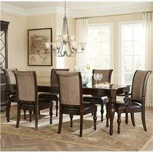 Vendor 5349 Kingston Plantation Seven Piece Rectangular Dining Table And Chair Set