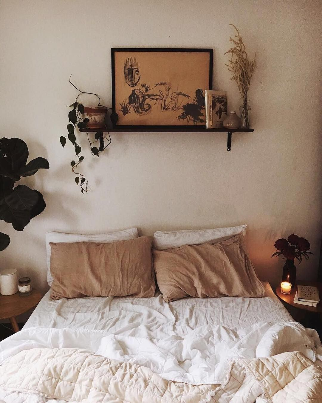 Chilled Out Relaxing Earthy White Bedroom Wall Decor Bedroom Home Decor Bedroom Room Decor