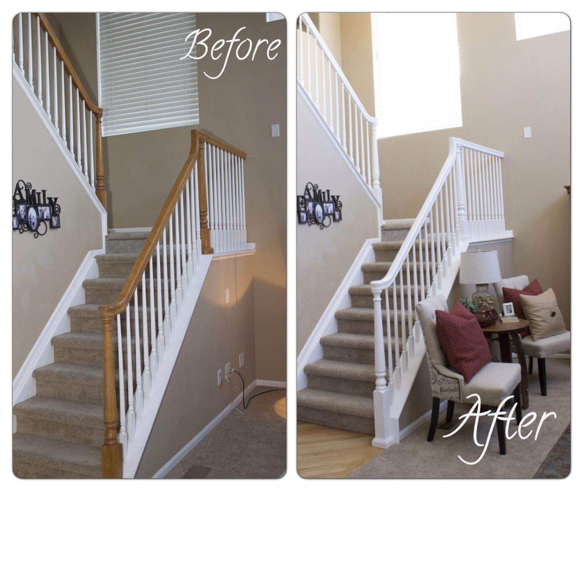Stair Railing Makeover, Banisters