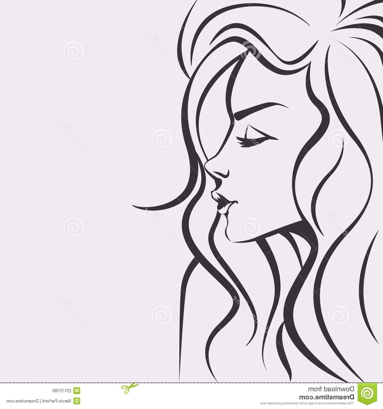 Easy Drawings   Easy Drawing Of A Girl Face Easy Drawings Girls ...