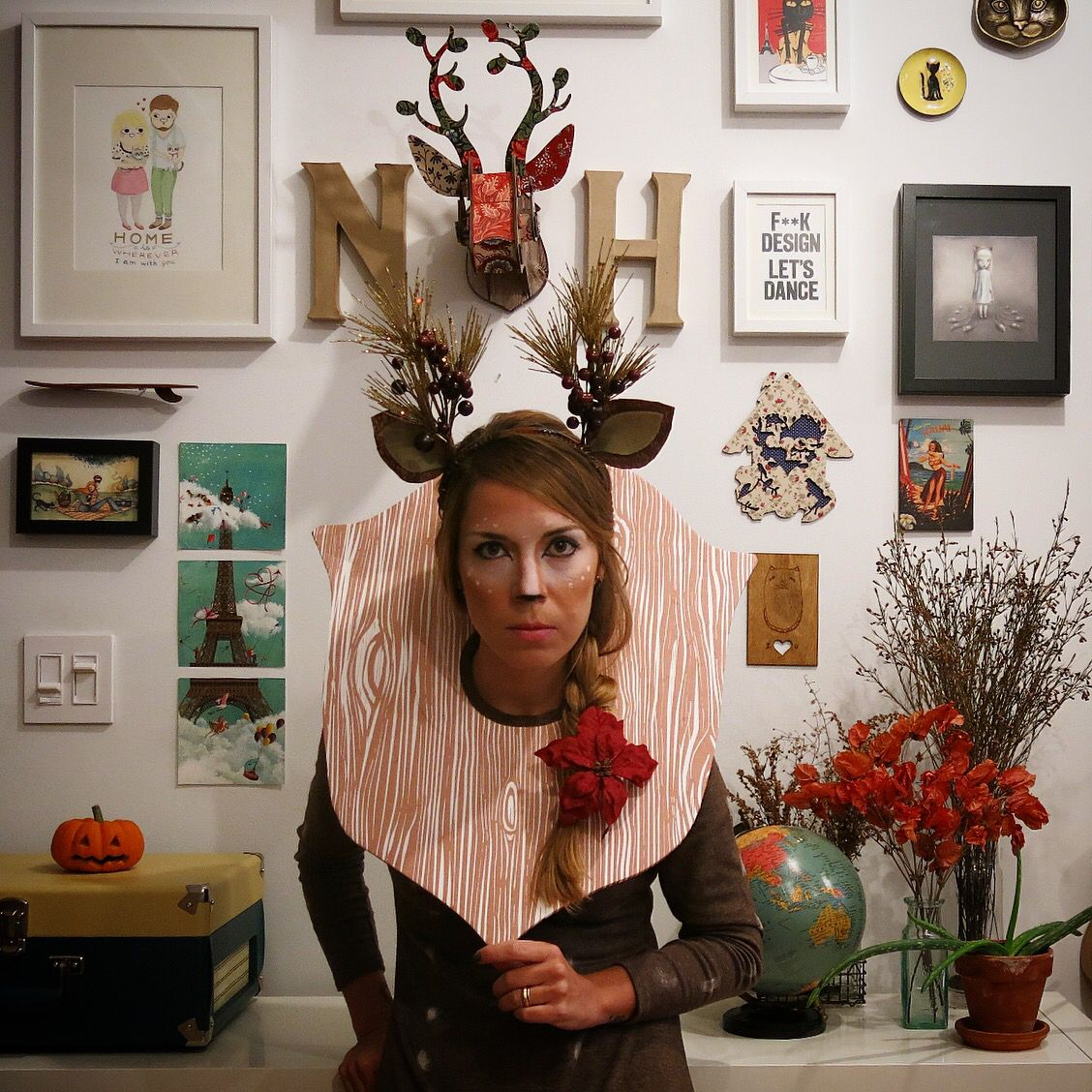 Deer Costume. Oh, deer! #deer #diy #costume #halloween