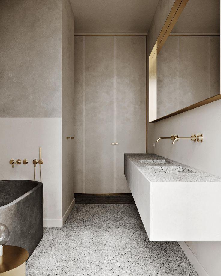 Une salle de bain minérale (Frenchy Fancy) Bathroom designs