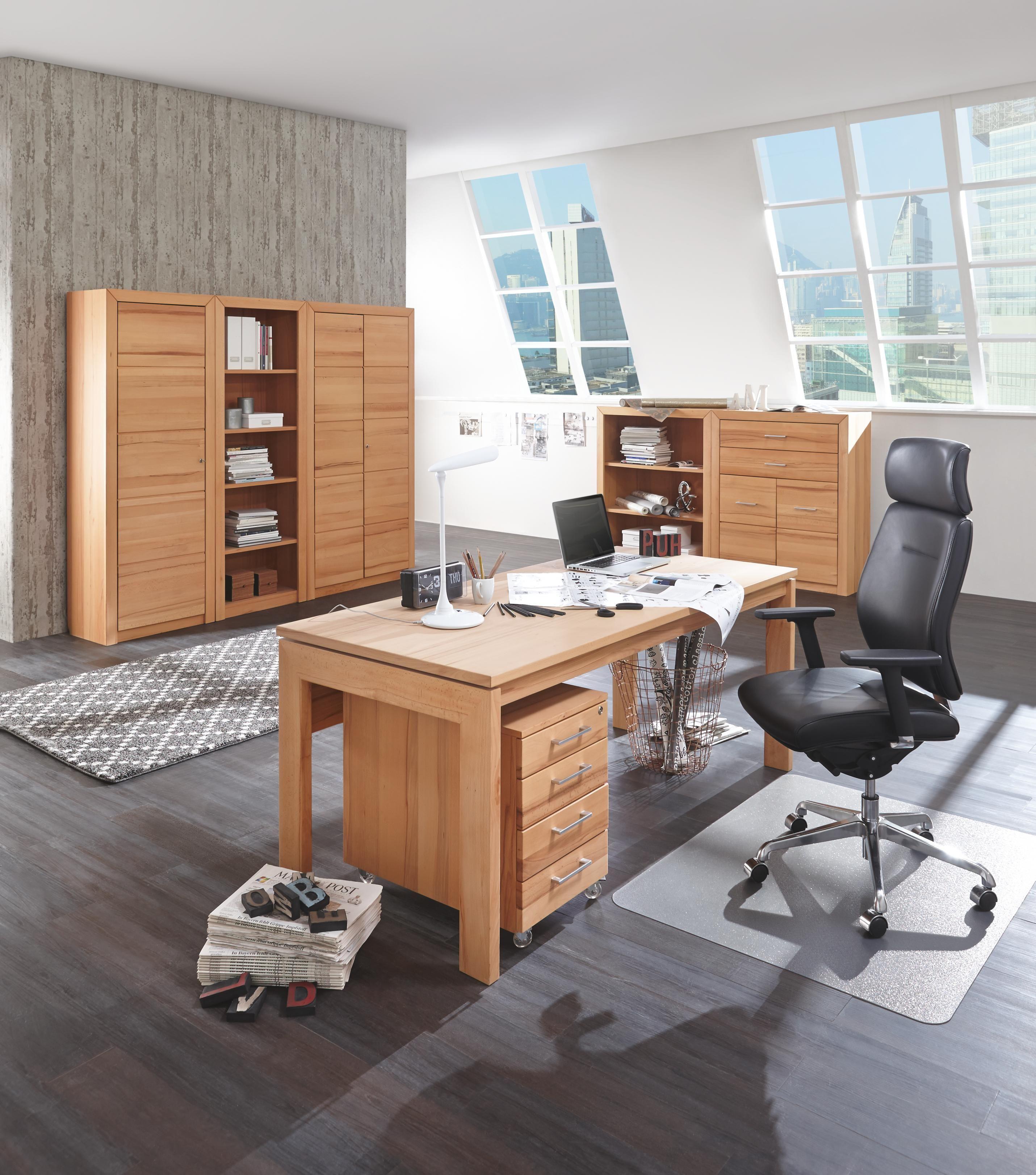 Dieser Schreibtisch Von LINEA NATURA Macht Mit Seinem Schlanken Design Aus  Echter Kernbuche Eine Hervorragende Figur