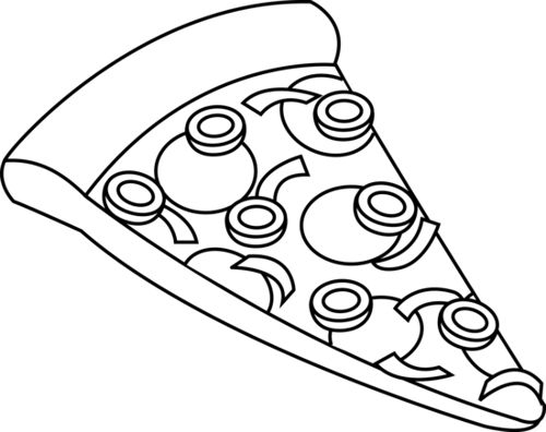 Pizza Black And White Clipart Clipart Black And White Clip Art