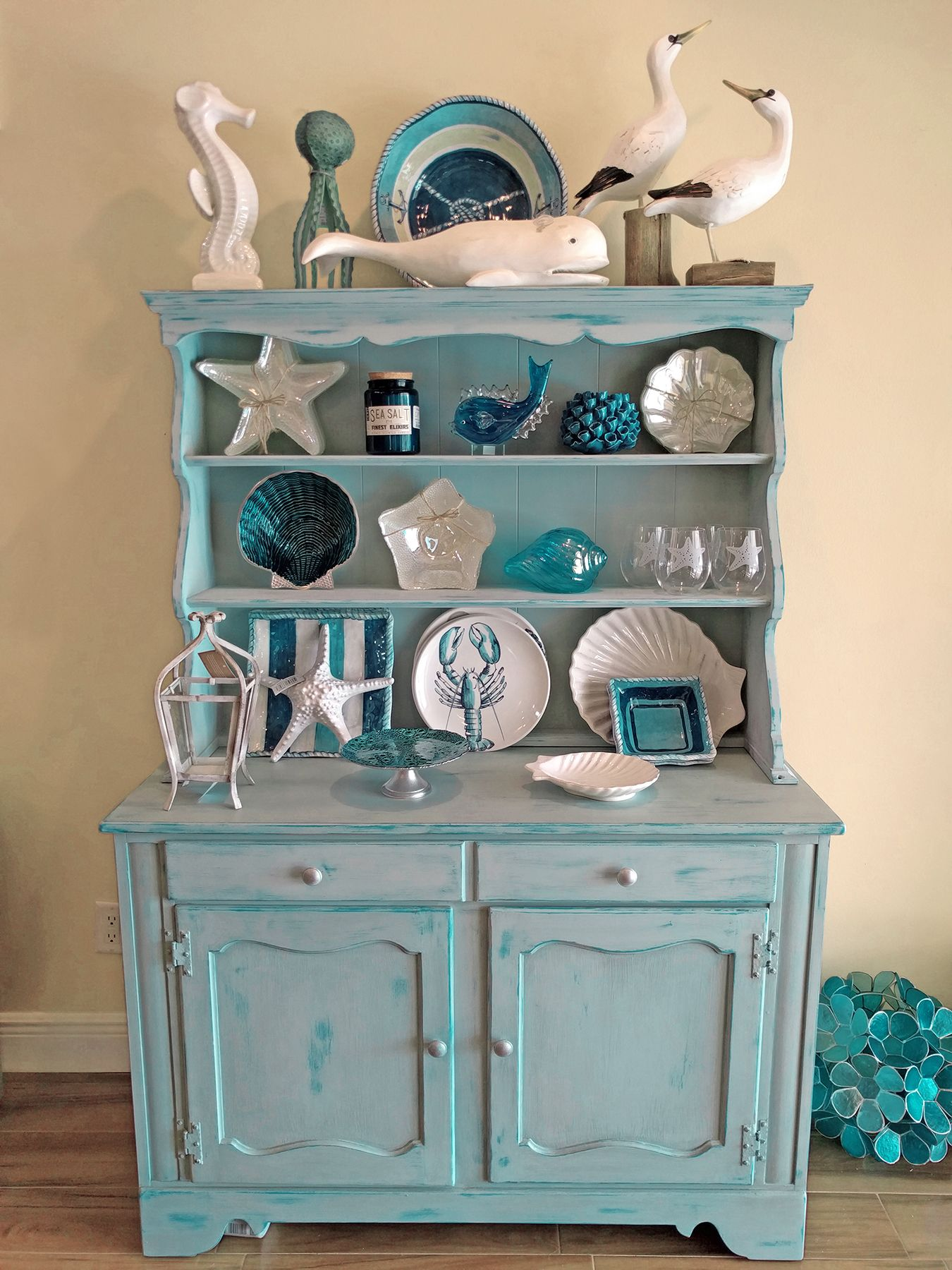 restoring furniture ideas. Beachy Coastal Hutch, Americana Decor Chalk Paint Restoring Furniture Ideas R