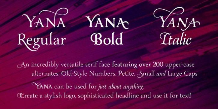 Yana font download | Fonts | Fonts, Word fonts, Typography love