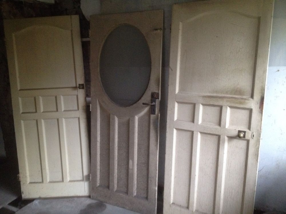 Exceptional 1950 S Style Internal Doors Vintage Antique