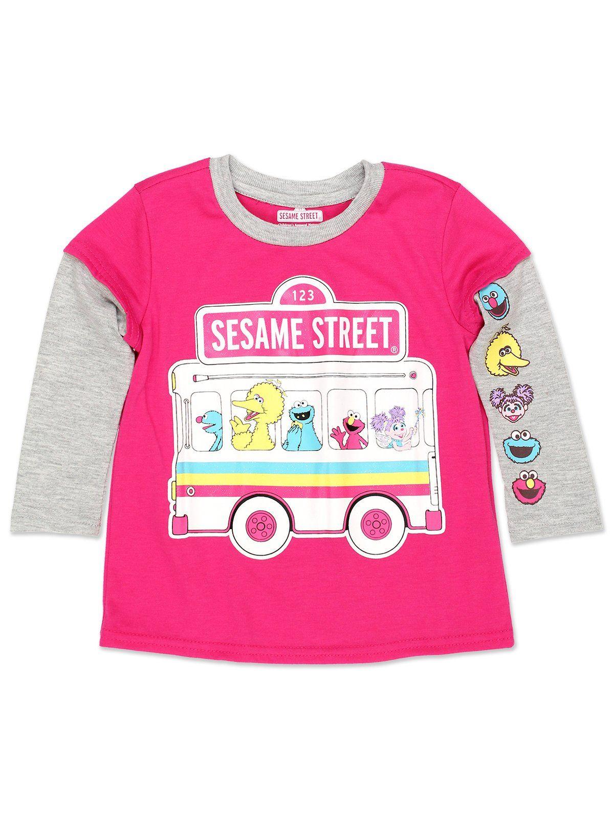 Baby//Toddler Sesame Street Elmo Girls Short Sleeve Tee 6SE5797