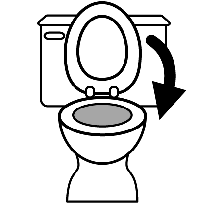 Don't forget when showing your house, to keep the toilet